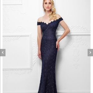 Gorgeous Lace & Beaded Off the Shoulder Gown